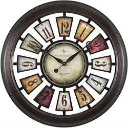 "Colorful 22.5"" Numeral Plaques Clock, 86438"