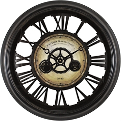 "Gearworks 24"" Wall Clock, 86442"