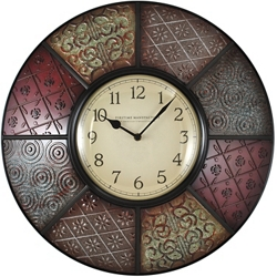 "Patchwork 20.5"" Wall Clock, 86440"