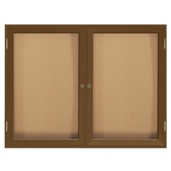 "Wood Frame Corkboard - 48"" x 36"", 80130"