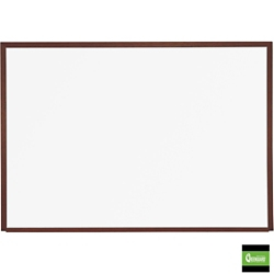 12' x 4' Porcelain White Board with Wood Frame, 80470