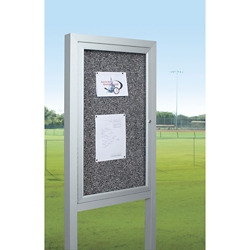 "48""W x 48""H Outdoor Board with Posts, 80599"