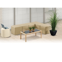 L and Circle Modular Bench Set, 82105