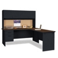 Steel L-Desk with Hutch, 86117