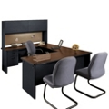 Steel U-Desk with Hutch, 86118