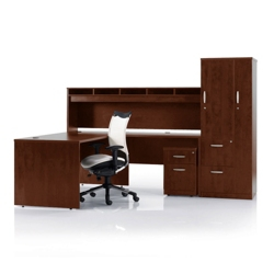 L-Desk with Storage Set, 86150