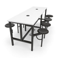"Standing Height Table with Eight Swivel Seats - 96""W, 46425"
