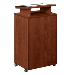 Mobile Lectern with Raised Shelf, 91685