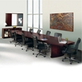 Transitional 12' Conference Table with Ten Chairs, 45043