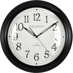 "Contemporary 11"" Wall Clock with Whisper Technology, 86446"