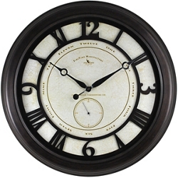 "Oversized Aged 22.5"" Wall Clock, 86445"