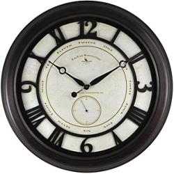 "Oversized Aged 22.5"" Wall Clock, 86445"