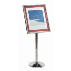 "Chrome Standing Sign Holder - 20""W x 24""D, 87354"