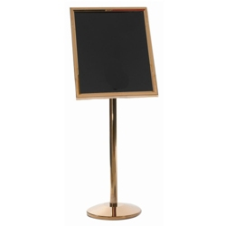 "Brass Standing Sign Holder - 20""W x 24""D, 87355"