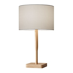 Wood Base Table Lamp, 82576