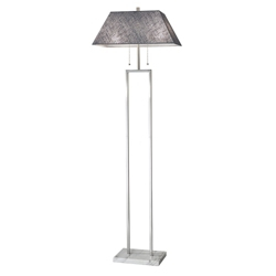 Fabric Shade Floor Lamp with Marble Base, 82580