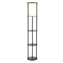 Round Floor Lamp with Three Shelves, 87552