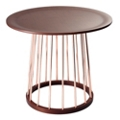 "Copper Accent Round End Table - 23""DIA, 46200"