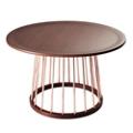 """Copper Accent Round Coffee Table - 27.5""""DIA, 46201"""