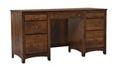 "Solid Wood Double Pedestal Desk - 57.75""W, 16051"