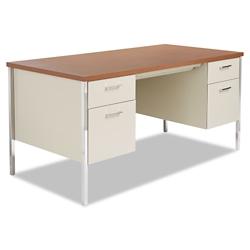 Double Pedestal Metal Desk 60 X 30
