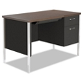 "Compact Single Pedestal Metal Desk 45"" x 24"", 11969"
