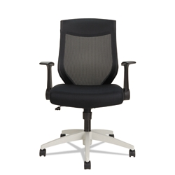 Mesh Mid-Back Chair with Cool Gray Frame, 56074