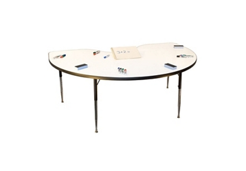 Kidney-Shaped Markerboard Table, 46324