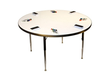 """Height Adjustable Whiteboard Table - 48""""DIA, 46366"""