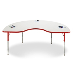 "Kidney White Board Table Top - 48""W x 72""D , 46497"