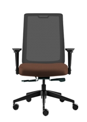 Vinyl Task Chair with Mesh Back, 51739