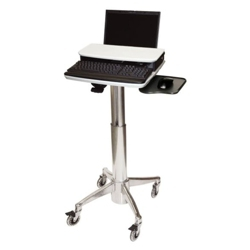 Locking Adjustable Height Laptop Cart, 61001