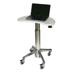 Kidney-Shaped Adjustable Height Laptop Cart, 61004