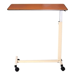 "Deluxe Overbed H-Base Table with Thermoformed Top - 30""W, 26179"