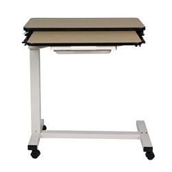 "Split-Top Overbed H-Base Table with Laminate Top - 32""W, 26191"