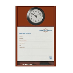 """Patient Dry Erase Board with Clock - 25.5""""W x 36""""H, 26197"""