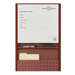 """Patient Dry Erase Board with Filing - 25.5""""W x 36""""H, 26199"""