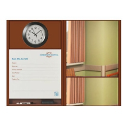 """Patient Dry Erase Board with Clock and Mirror - 50.5""""W x 36""""H, 26201"""
