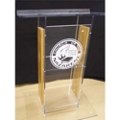 H Style Wood and Acrylic Lectern, 43307