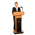 Adjustable Height Lectern with Sound, 43318