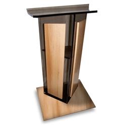 Acrylic Lectern with Wood Base, 43331