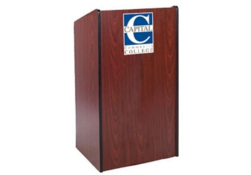Wide Body Customizable Logo Lectern , 43490