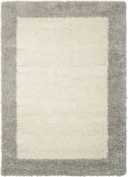 "Bordered Shag Area Rug 5'3""W x 7'5""D, 91623"