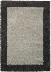 "Bordered Shag Area Rug 3'11""W x 5'11""D, 91622"
