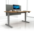 "Sit-to-Stand Height Adjustable Desk with Privacy Screen - 72""W x 30""D, 14140"