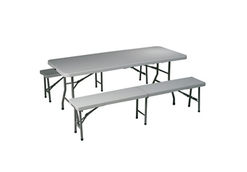 Folding Table and Bench Set, 46723