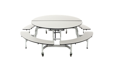 "Round Cafeteria Table with Four Benches - 86""DAI, 46697"