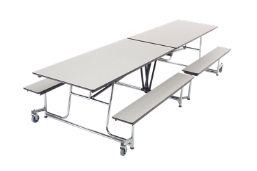 Cafeteria Table with Four Benches - 12', 46698