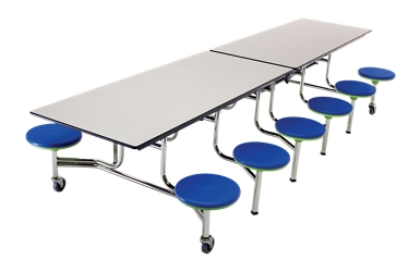 Cafeteria Table with 12 Stools - 12', 47060