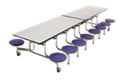 Cafeteria Table with 16 Stools - 12', 47061
